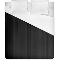 Pitch Black Color Stripes Duvet Cover (california King Size) by SpinnyChairDesigns
