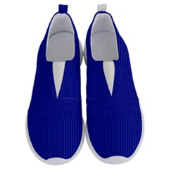 Cobalt Blue Color Stripes No Lace Lightweight Shoes by SpinnyChairDesigns