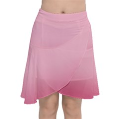 Blush Pink Color Gradient Ombre Chiffon Wrap Front Skirt