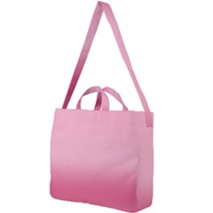 Blush Pink Color Gradient Ombre Square Shoulder Tote Bag