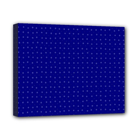 Navy Blue Color Polka Dots Canvas 10  X 8  (stretched)
