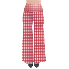 Red White Gingham Plaid So Vintage Palazzo Pants by SpinnyChairDesigns