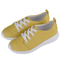 Saffron Yellow Color Stripes Women s Lightweight Sports Shoes by SpinnyChairDesigns