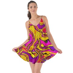Colorful Boho Swirls Pattern Love The Sun Cover Up