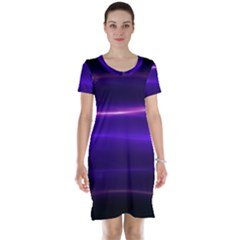 Electric Neon Indigo Black Ombre  Short Sleeve Nightdress