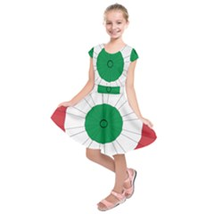 National Cockade Of Italy Kids  Short Sleeve Dress by abbeyz71
