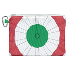National Cockade Of Italy Canvas Cosmetic Bag (xl)