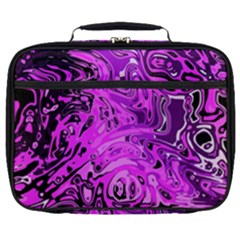 Magenta Black Abstract Art Full Print Lunch Bag