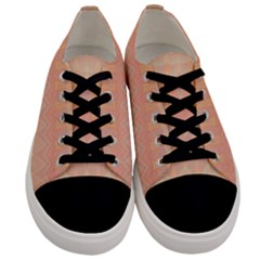 Boho Soft Peach Pattern Men s Low Top Canvas Sneakers