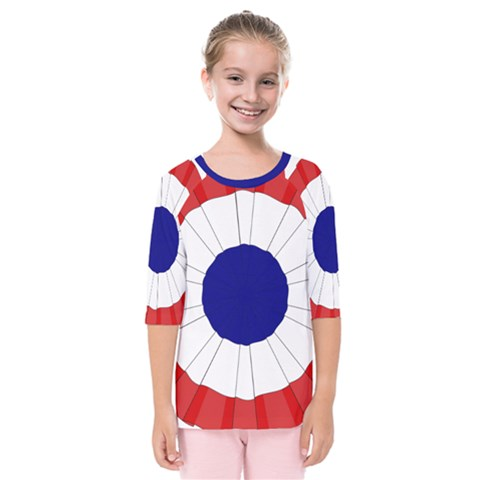 National Cockade Of France  Kids  Quarter Sleeve Raglan Tee by abbeyz71
