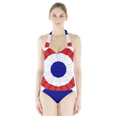 National Cockade Of France  Halter Swimsuit by abbeyz71