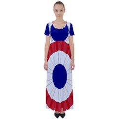 National Cockade Of France  High Waist Short Sleeve Maxi Dress by abbeyz71
