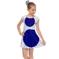 National Cockade Of France  Kids  Cap Sleeve Dress by abbeyz71