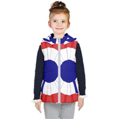 National Cockade Of France  Kids  Hooded Puffer Vest by abbeyz71
