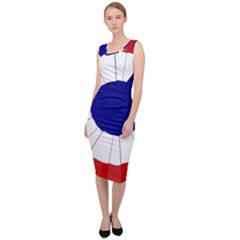 National Cockade Of France  Sleeveless Pencil Dress by abbeyz71