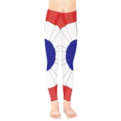 National Cockade Of France  Kids  Leggings by abbeyz71