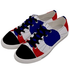 National Cockade Of France  Men s Low Top Canvas Sneakers by abbeyz71