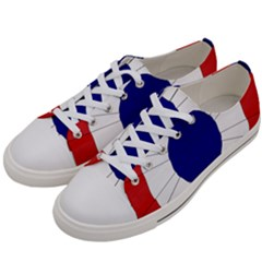 National Cockade Of France  Women s Low Top Canvas Sneakers by abbeyz71