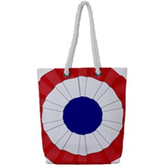 National Cockade Of France  Full Print Rope Handle Tote (small) by abbeyz71
