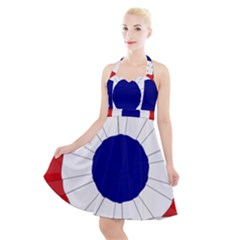 National Cockade Of France  Halter Party Swing Dress  by abbeyz71
