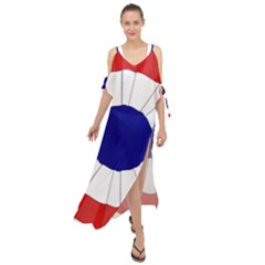 National Cockade Of France  Maxi Chiffon Cover Up Dress by abbeyz71