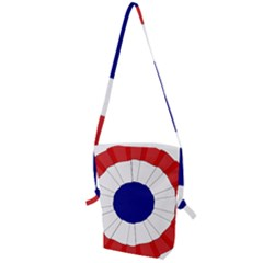 National Cockade Of France  Folding Shoulder Bag by abbeyz71
