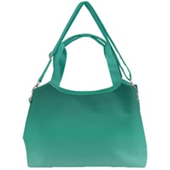 Biscay Green Gradient Ombre Double Compartment Shoulder Bag