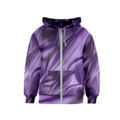 Purple Abstract Art Kids  Zipper Hoodie