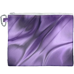 Purple Abstract Art Canvas Cosmetic Bag (xxxl)