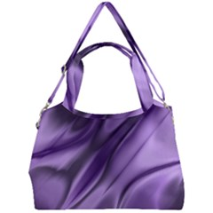 Purple Abstract Art Double Compartment Shoulder Bag