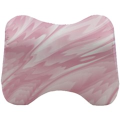 Pastel Pink Feathered Pattern Head Support Cushion