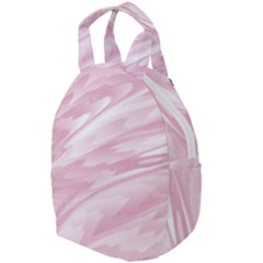 Pastel Pink Feathered Pattern Travel Backpacks
