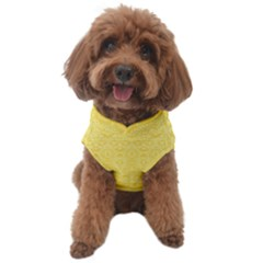 Boho Saffron Yellow Color Dog Sweater by SpinnyChairDesigns