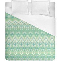 Boho Biscay Green Pattern Duvet Cover (california King Size)