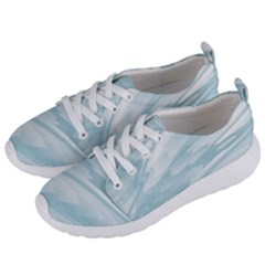 Light Blue Feathered Texture Women s Lightweight Sports Shoes by SpinnyChairDesigns