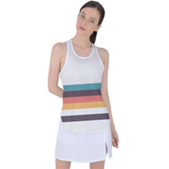 Classic Retro Stripes Racer Back Mesh Tank Top by tmsartbazaar