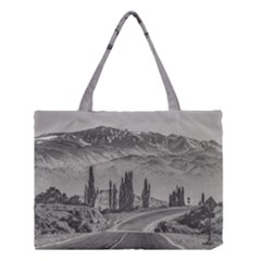 Deserted Landscape Highway, San Juan Province, Argentina Medium Tote Bag