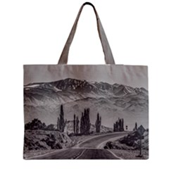 Deserted Landscape Highway, San Juan Province, Argentina Zipper Medium Tote Bag