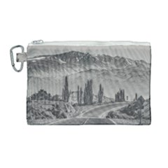 Deserted Landscape Highway, San Juan Province, Argentina Canvas Cosmetic Bag (large)