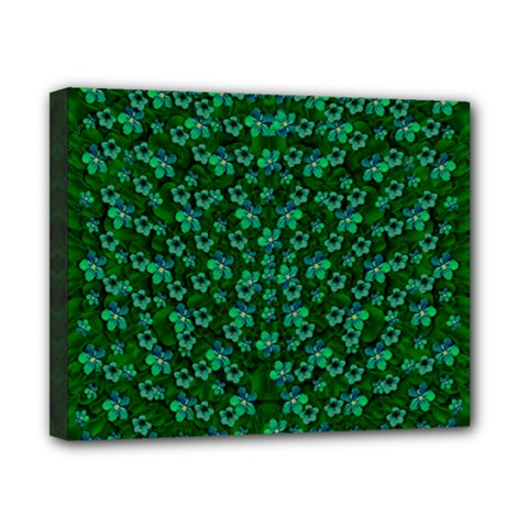 Leaf Forest And Blue Flowers In Peace Canvas 10  X 8  (stretched)