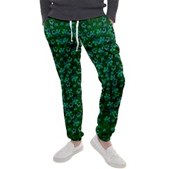 Leaf Forest And Blue Flowers In Peace Men s Jogger Sweatpants