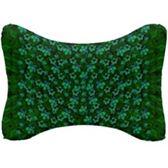 Leaf Forest And Blue Flowers In Peace Seat Head Rest Cushion