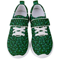Leaf Forest And Blue Flowers In Peace Women s Velcro Strap Shoes