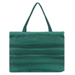 Biscay Green Ombre Zipper Medium Tote Bag