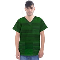 Emerald Green Ombre Men s V-neck Scrub Top