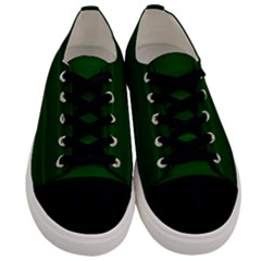 Emerald Green Ombre Men s Low Top Canvas Sneakers
