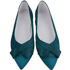 Teal Blue Ombre Women s Bow Heels by SpinnyChairDesigns