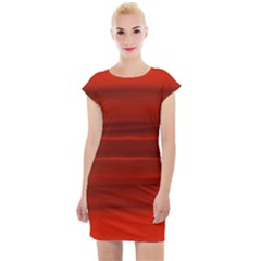 Scarlet Red Ombre Cap Sleeve Bodycon Dress