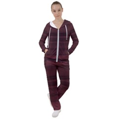 Burgundy Wine Ombre Women s Tracksuit by SpinnyChairDesigns