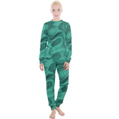Biscay Green Swirls Women s Lounge Set